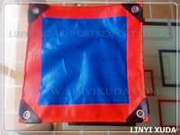 PE waterproof tarpaulin for truck cover , plastic reinforced corners pe tarpulin
