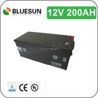 SGS PVOC CE UL 2016 year Popular GEL/AGM High efficiency deep cycle solar battery 12v 200ah