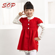 Kids clothing dress winter vest new design cap sleeve children wool dresses girls