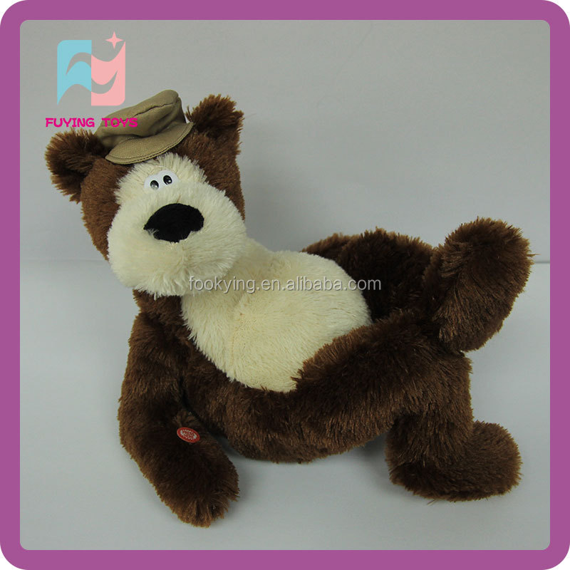 Plush stuffed bear toys for crane machines with high quality