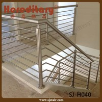 Stainless steel flat bar post / Stainless steel rod bar railing for stair handrail