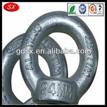 Dongguan pole line hardware forged triple eye nut/thimble eye nut