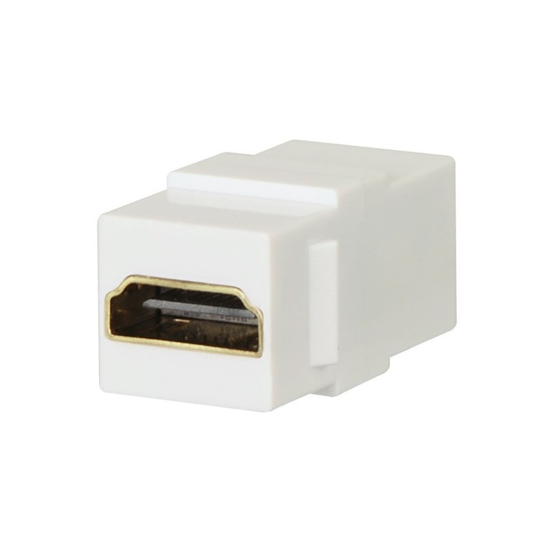 3D 1.4 2.0 4K 24K 60Hz Gold Plated Supports High Speed Ethernet ,Wall Mount Socket Type Hdmi Keystone Jack Adapter