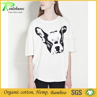 High quality white fashion style hemp t-shirts wholesale hemp t-shirts plain hemp t-shirt
