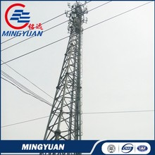wire supporting telecom galvanized triangular tower made in China
