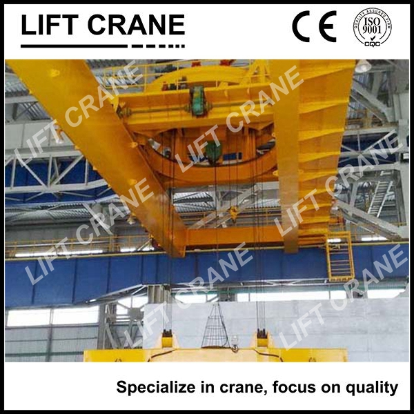(20+20)t Magnet Beam Double Girder Overhead Crane Reliable and Safe With Small Swing Angle