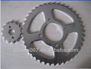 CD 70 nickel plated sprocket 14T and 41T for pakistan