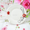 cheap ceramic dinner plate, decaled ceramic dishes, porcelain dinner plate