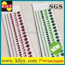 Fashionable rhinstone crystal car sticker decoration, gem stone sticker for sale