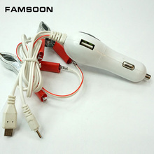 car MP3 charger, 2USB car charger for mobile phones and tablet PCs,3.5mm and micro usb 2 in 1 charger,