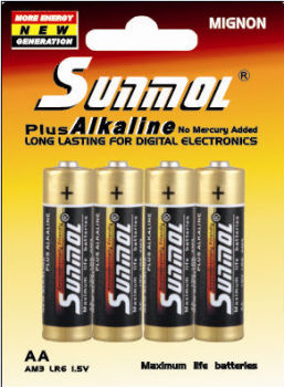 household aa alkaline batteries lr6