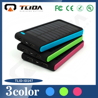 New design OEM logo lithium polymer 30000mAh dual usb portable solar battery charger for mobile phone