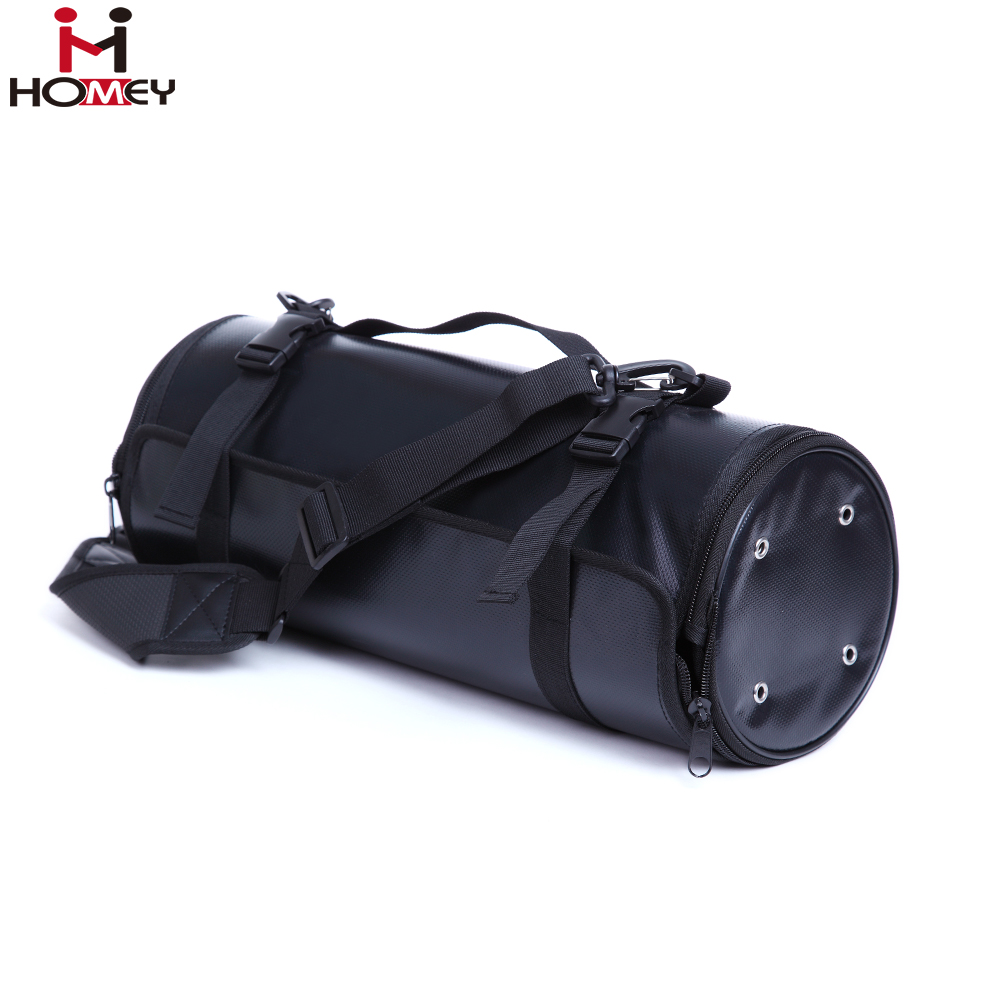 Custom Bar Tool Bag PU Leather Bartender Roll Up Bag with Multi-Pouches
