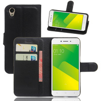 Mobile Phone Card Holder Leather Flip Back Cover For OPPO A37
