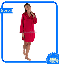 Hot Sale Ladies Winter Nightwear Nightgowns Satin Female Sex Sexy Nightgown