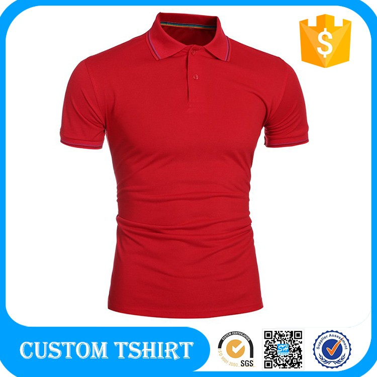 Single Color Polo T-shirts Custom Embroidery Logo 24 Colors For Choice