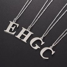 316L Cheap School Students 26 English Letters Alphabet A C E <strong>H</strong> R Stainless Steel Pendant Necklace