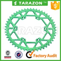 Offroad motorcycle rear aluminum alloy sprocket for Kawasaki kxf