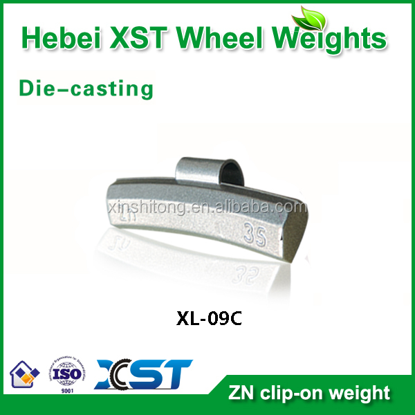 lead free zinc clip on wheel balance weight