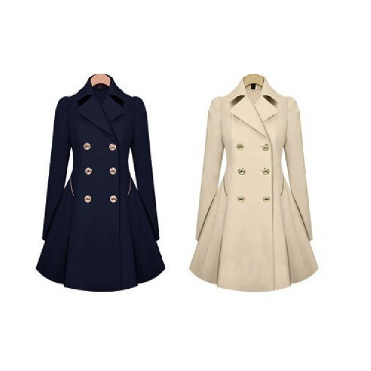 ZH1471C Ladies fashion overcoat women new design woman long winter coat 2016 solid color winter coat