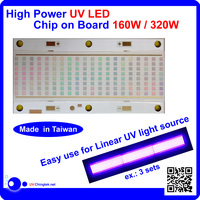 UV LED high power chips 365nm 385nm 395nm 405nm for lights module - uv curing system - 160W - A3a7