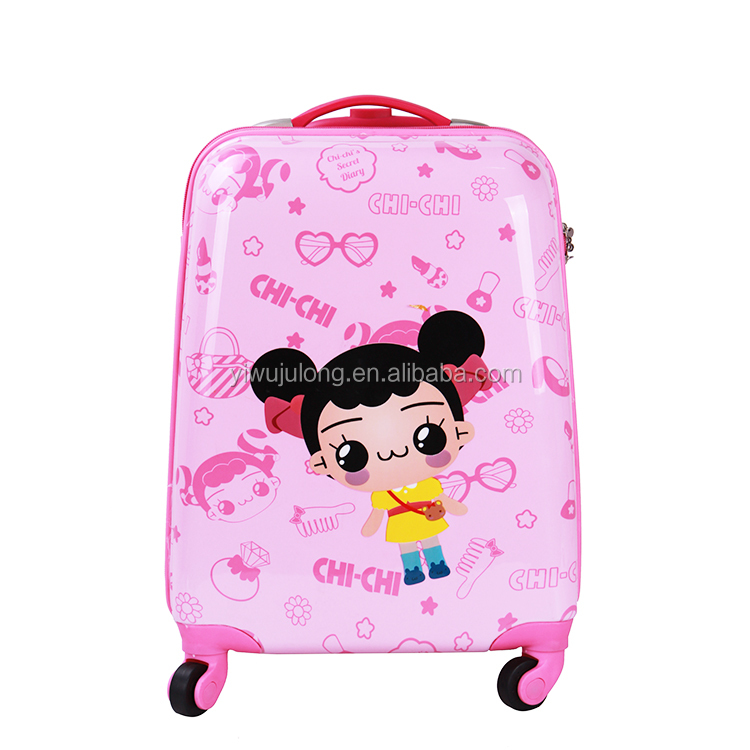 China Luggage Factory Supply Children Cartoon Trolley Bag Set Kids Travel Luggage