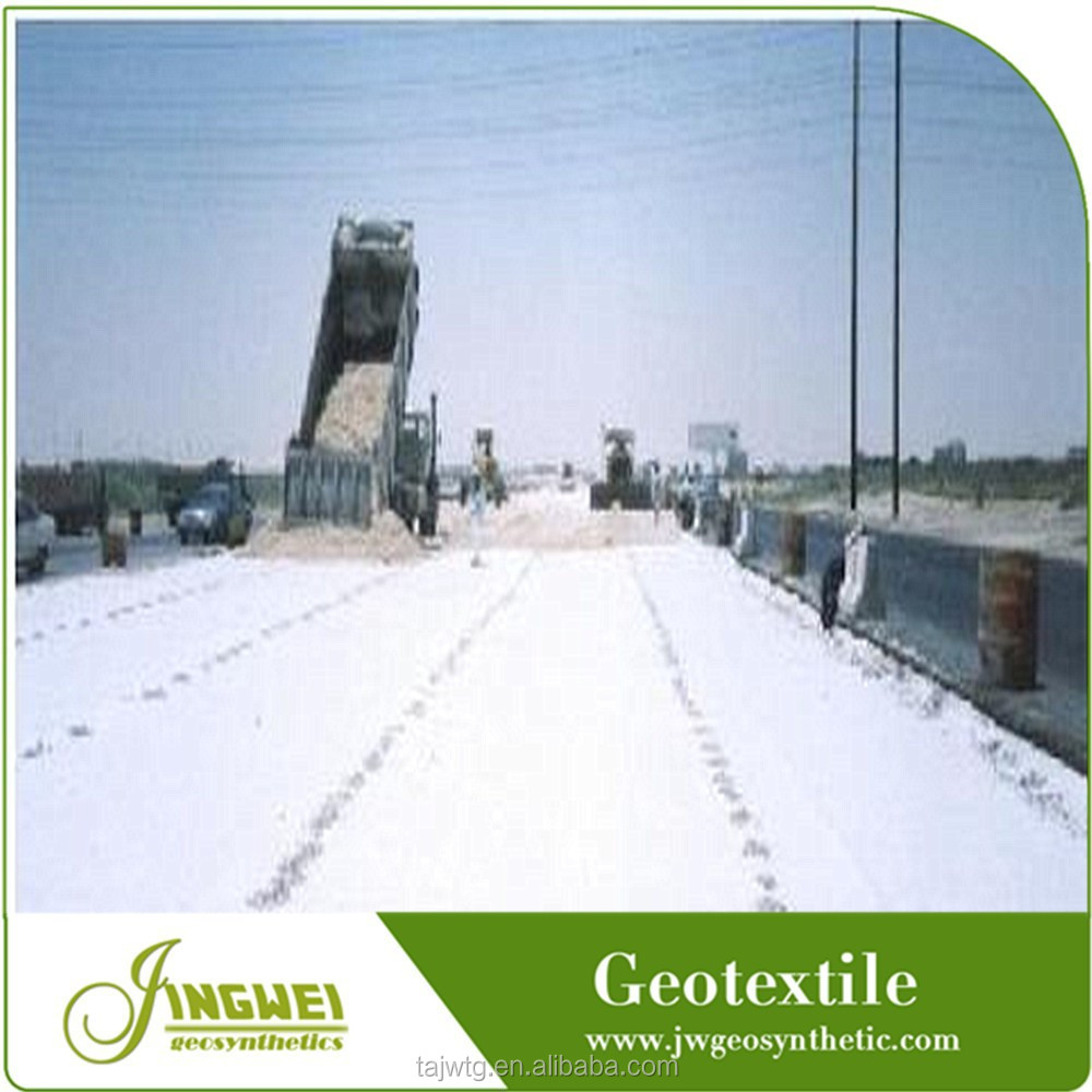 low weight permeable turf reinforced geotextile fabric