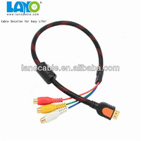 high quality hdmi converter male to 3 rca female video audio av cable