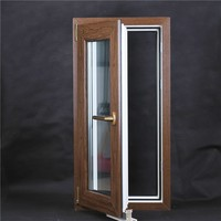 Henan Beidi UPVC manufacture open inside stell casement window and door can decorated with grill blind