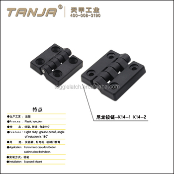 TANJA Nylon hinge for doors/windows/furniture/box /table hinges made in China