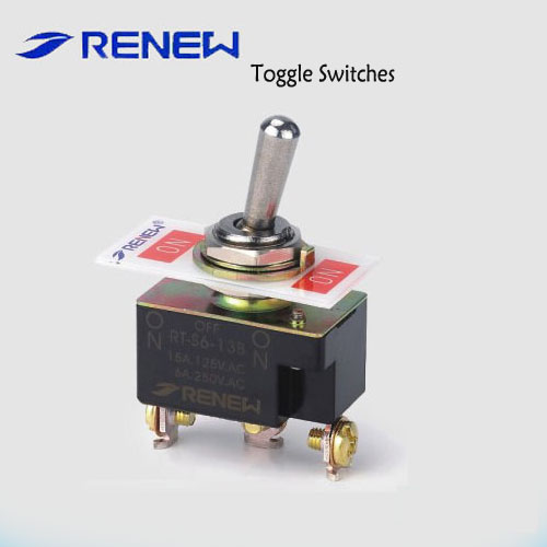 RT-S6-13B SPDT ON-OFF-ON type magnetic toggle switch
