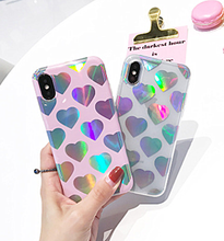 2017 New Laser Heart IMD TPU Cover Cell Phone Case for iPhone X