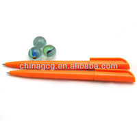 Orange Plastic Ball Pen