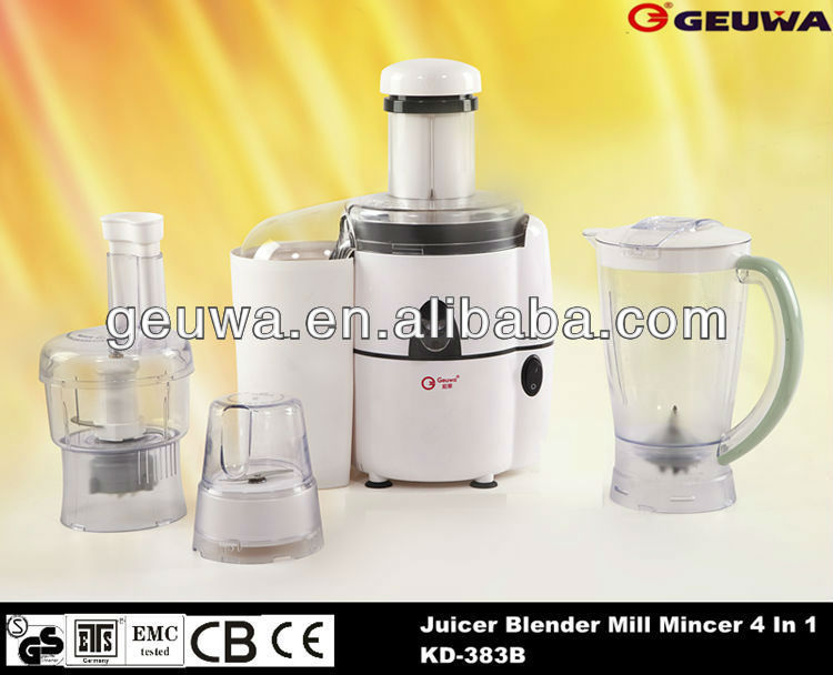 manual meat mincer juice extractor machine 4 in 1 juicer blender mill KD-383B