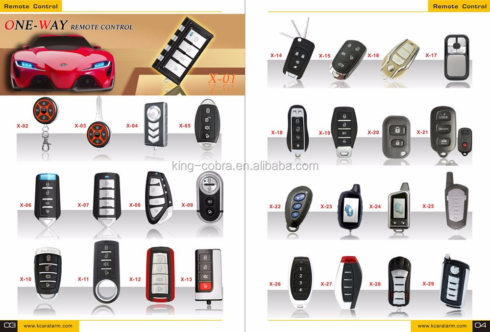 One Way Remote Engine Start Car Alarm