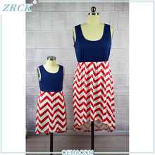 Top-selling family clothes set wave dress avail fashion clothing mexico garment manufacturers