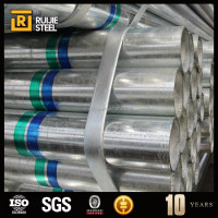 Supply Greenhouse material galvanized round steel pipes / galvanized steel carbon tube