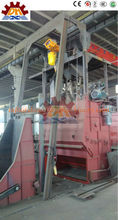 Casting iron sand blast machine with tumbling barrel suitable for small and unbreakable workpiece sandblasting