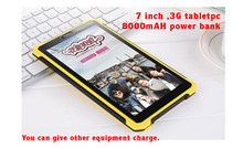 Android tablet 7 inch rugged tablet 3G 1gb ram/8GB ROM, support functions of mobile power supply