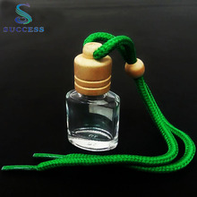 Factory Sale 10ml Hanging Car Perfume Glass Bottle with Wooden Cap