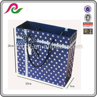 Exqusite Double-side Blue Florals Gift Bags With bow tie ribbon