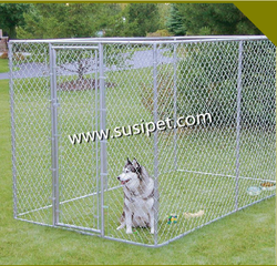 Dogs use Eco-Friendly and Stocked Galvanized material dog kennels cages/black dog kennel /chain link dog