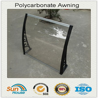 clear plastic awnings canopies Polycarbonate PC bracket