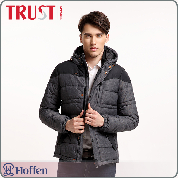 wholesale dark grey polyester nylon waterproof latest design jacket for men