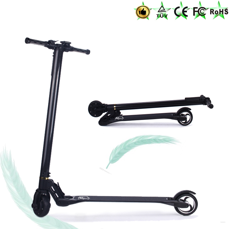 new products 2016 250w scooter carbon fiber frame two wheel mini electric scooter china