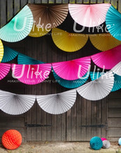 rave party decorations Honeycomb Fan Pinwheel fan garland paper colorful party decorationsparty decorations