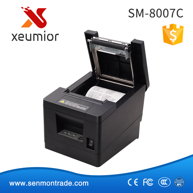 SM-8007C Reliable USB Serial Ethernet Port and Auto Cutter Built-in 80mm Thermal Ticket Printer