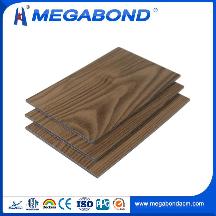 Megabond CE Standard Aluminum acp wood outdoor sign board material