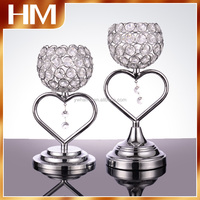 hot-cake!! elegance heart shape Crystal centerpiece flower floral stand Candelabra wedding event decoration votive