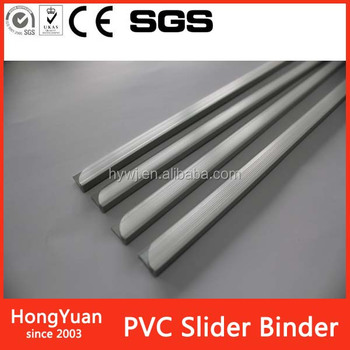 pvc slide bars plastic slide bars A4 slider binder